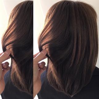 アンニュイほつれヘア ナチュラル 外国人風カラー ミディアム ヘアスタイルや髪型の写真・画像