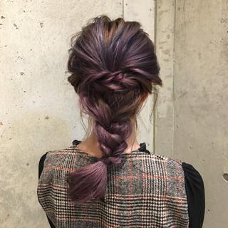 セミロング デート ガーリー ハイトーン ヘアスタイルや髪型の写真・画像