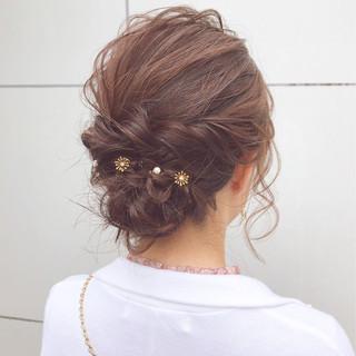 結婚式 ナチュラル アンニュイほつれヘア ヘアアレンジ ヘアスタイルや髪型の写真・画像