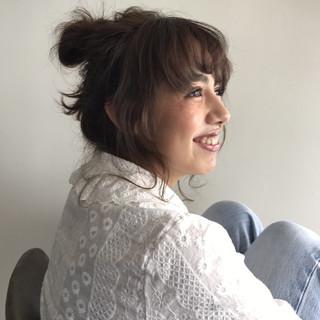 ゆるふわ フェミニン 春 セミロング ヘアスタイルや髪型の写真・画像