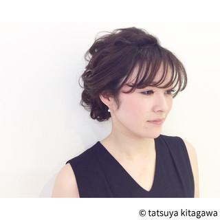 エレガント ヘアアレンジ セミロング 外国人風 ヘアスタイルや髪型の写真・画像