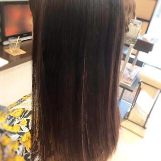 韓国ヘア イベント ナチュラル ロング ヘアスタイルや髪型の写真・画像
