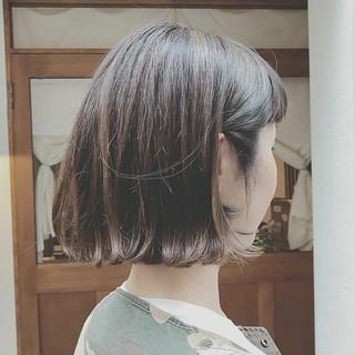 モード ボブ 外ハネ アウトドア ヘアスタイルや髪型の写真・画像