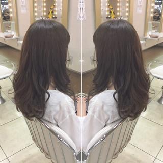 黒髪 フェミニン デート セミロング ヘアスタイルや髪型の写真・画像