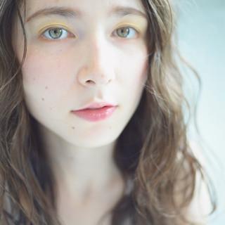 透明感 ロング フェミニン 秋 ヘアスタイルや髪型の写真・画像