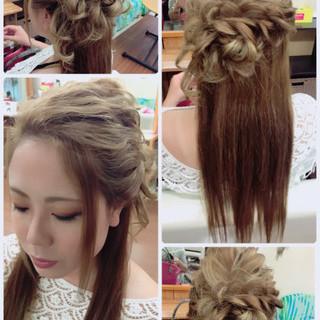 結婚式 ルーズ フェミニン ヘアアレンジ ヘアスタイルや髪型の写真・画像