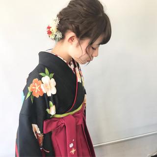 ヘアアレンジ ヘアセット アンニュイほつれヘア 袴 ヘアスタイルや髪型の写真・画像
