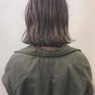 ボブ 大人かわいい ナチュラル ハイライト ヘアスタイルや髪型の写真・画像
