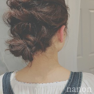 大人かわいい 簡単ヘアアレンジ ナチュラル ロング ヘアスタイルや髪型の写真・画像