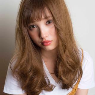 ブラウン ナチュラル ゆるふわ 外国人風 ヘアスタイルや髪型の写真・画像