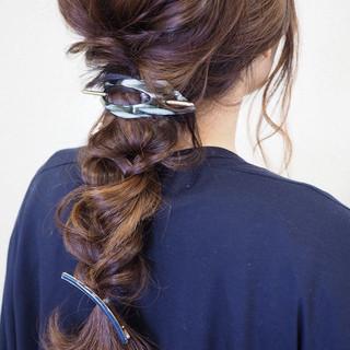 ロング 結婚式 簡単ヘアアレンジ 二次会 ヘアスタイルや髪型の写真・画像