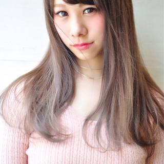 外国人風カラー ピンク フェミニン 透明感 ヘアスタイルや髪型の写真・画像