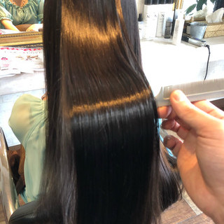 ナチュラル 髪質改善 髪質改善トリートメント ロング ヘアスタイルや髪型の写真・画像
