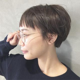 前髪あり ショートボブ ナチュラル ショート ヘアスタイルや髪型の写真・画像