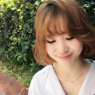 ヘアアレンジ ボブ ゆるふわ ストリート ヘアスタイルや髪型の写真・画像 ヘアスタイルや髪型の写真・画像