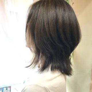 大人かわいい ミディアム グレージュ 大人女子 ヘアスタイルや髪型の写真・画像