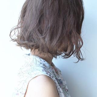ボブ ゆるふわ ガーリー パーマ ヘアスタイルや髪型の写真・画像