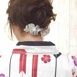 ショート ポンパドール 夏 簡単ヘアアレンジ ヘアスタイルや髪型の写真・画像