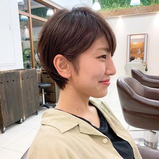 ナチュラル ショートヘア ふんわり ヘアスタイルや髪型の写真・画像