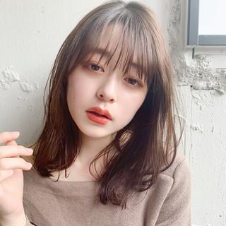 フェミニン ひし形シルエット ミディアム 大人かわいい ヘアスタイルや髪型の写真・画像