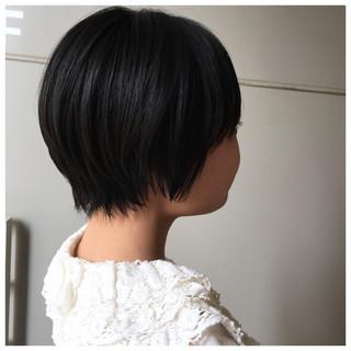 ショートボブ ショートヘア 黒髪ショート ショート ヘアスタイルや髪型の写真・画像