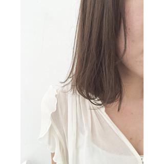 ボブ イルミナカラー ストリート 暗髪 ヘアスタイルや髪型の写真・画像