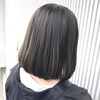 髪質改善 ナチュラル グレージュ ミディアム ヘアスタイルや髪型の写真・画像