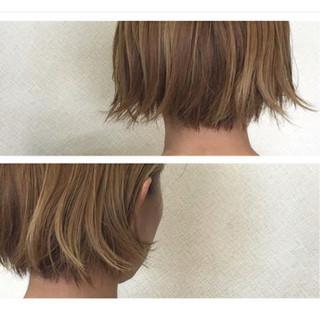 フェミニン 外ハネ ボブ 外国人風 ヘアスタイルや髪型の写真・画像