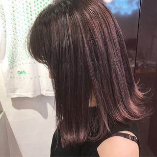 ラベンダーアッシュ ダブルカラー ロブ ラベンダー ヘアスタイルや髪型の写真・画像
