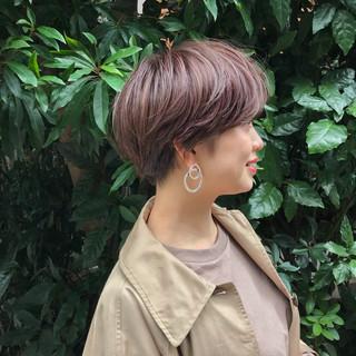 フェミニン ショートボブ ヘアアレンジ 大人カジュアル ヘアスタイルや髪型の写真・画像