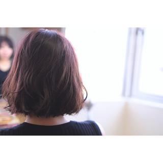 ピンク イルミナカラー ボブ 透明感 ヘアスタイルや髪型の写真・画像