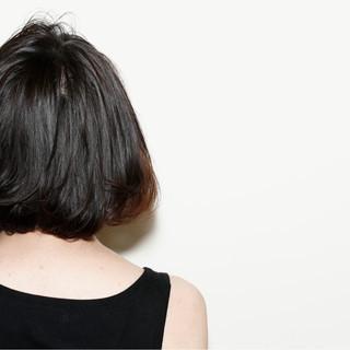 ボブ 黒髪 モード インナーカラー ヘアスタイルや髪型の写真・画像