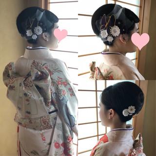 フィンガーウェーブ 成人式ヘア ボブ モード ヘアスタイルや髪型の写真・画像