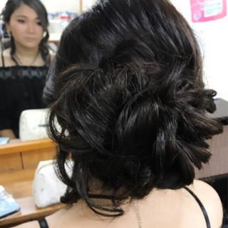 簡単ヘアアレンジ フェミニン 結婚式 ヘアアレンジ ヘアスタイルや髪型の写真・画像