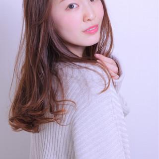 冬 ロング かわいい 色気 ヘアスタイルや髪型の写真・画像