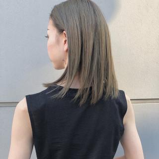 グレージュ ストリート ロブ スポーツ ヘアスタイルや髪型の写真・画像