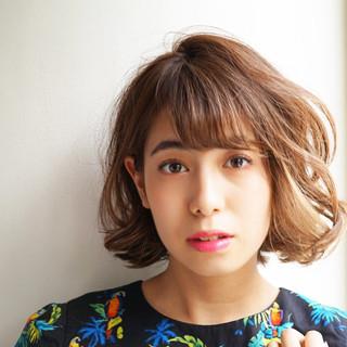 ヘアアレンジ ナチュラル ゆるふわ パーマ ヘアスタイルや髪型の写真・画像