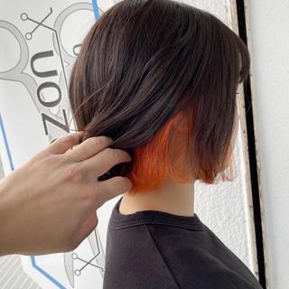 デザインカラー ダブルカラー リアルサロン 透明感カラー ヘアスタイルや髪型の写真・画像