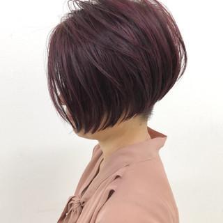 ハイライト ショートボブ グラデーションカラー モード ヘアスタイルや髪型の写真・画像