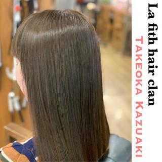 アディクシーカラー ブリーチなし セミロング 透明感 ヘアスタイルや髪型の写真・画像