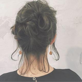 アッシュ ボブ ショート ナチュラル ヘアスタイルや髪型の写真・画像