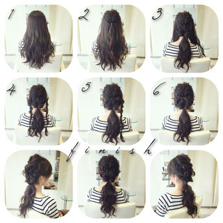 ロング 編み込み 三つ編み ヘアアレンジ ヘアスタイルや髪型の写真・画像 ヘアスタイルや髪型の写真・画像