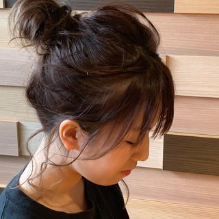 ミディアム ヘアアレンジ 編み込みヘア 結婚式 ヘアスタイルや髪型の写真・画像