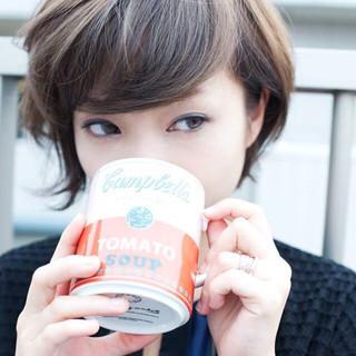 ショート 外国人風 コンサバ 秋 ヘアスタイルや髪型の写真・画像