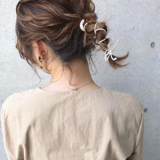 おしゃれさんと繋がりたい ナチュラル ヘアアレンジ 簡単ヘアアレンジ ヘアスタイルや髪型の写真・画像