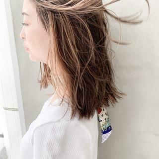 デート ナチュラル イメチェン ミディアム ヘアスタイルや髪型の写真・画像