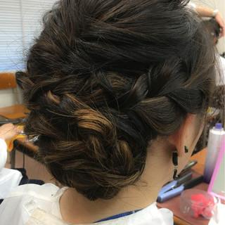 ヘアアレンジ ナチュラル ロング 学校 ヘアスタイルや髪型の写真・画像