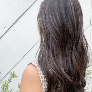 3Dハイライト ビーチガール ナチュラル 寒色 ヘアスタイルや髪型の写真・画像