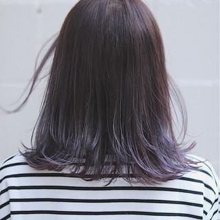オルチャン ラベンダー ミディアム イルミナカラー ヘアスタイルや髪型の写真・画像
