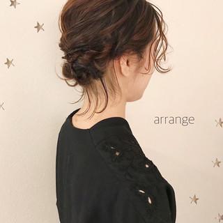 ボブ ナチュラル ヘアアレンジ ゆるナチュラル ヘアスタイルや髪型の写真・画像